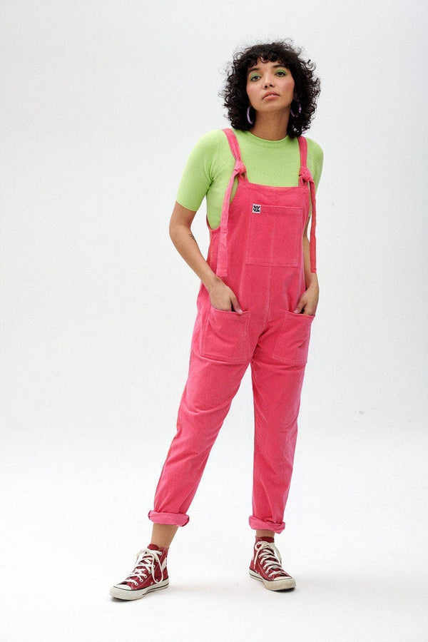 Lucy & Yak Dungarees Original Organic Corduroy Dungarees in Pink Punch
