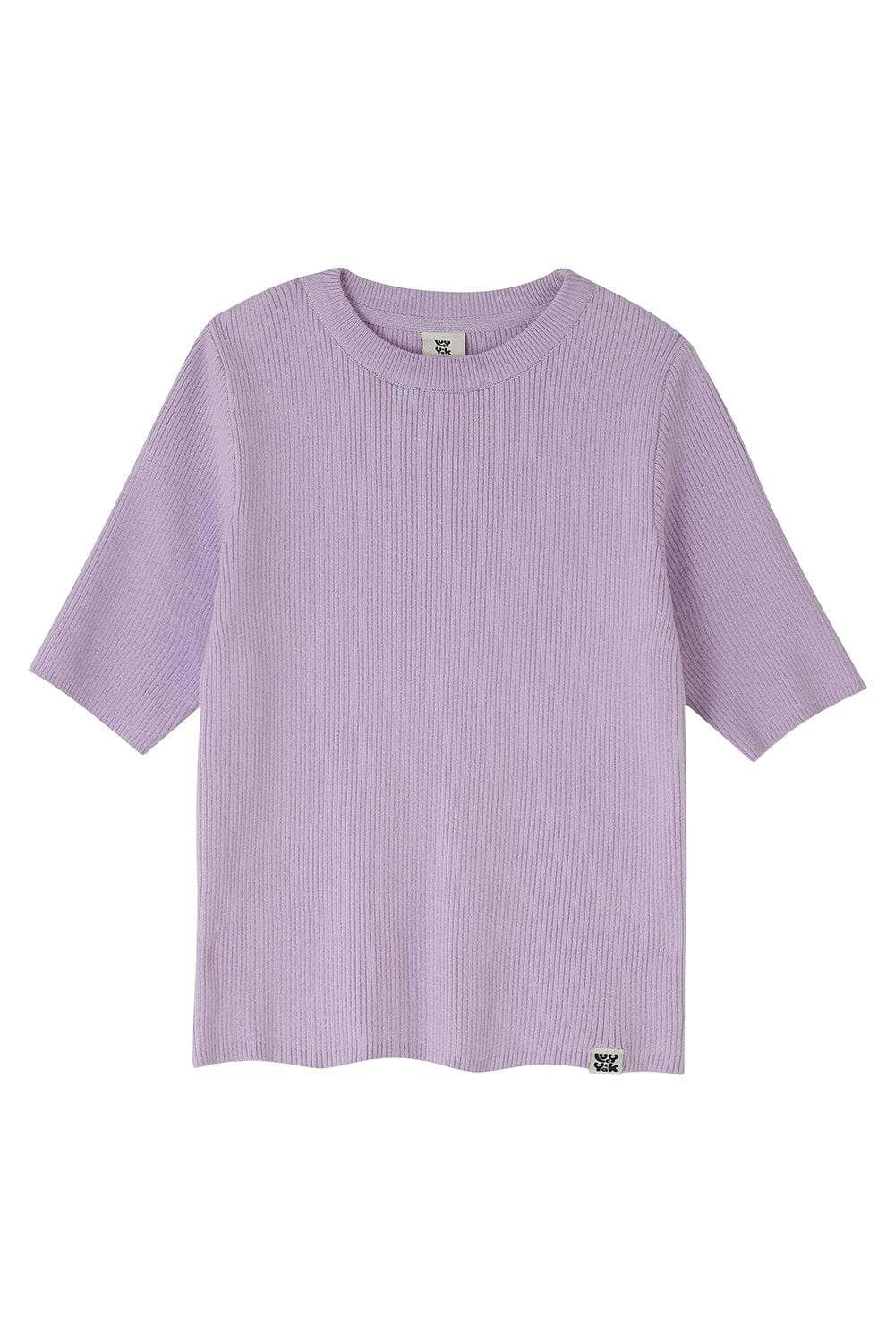 Lucy & Yak Tops Miranda Organic Cotton Top In Orchid Bloom