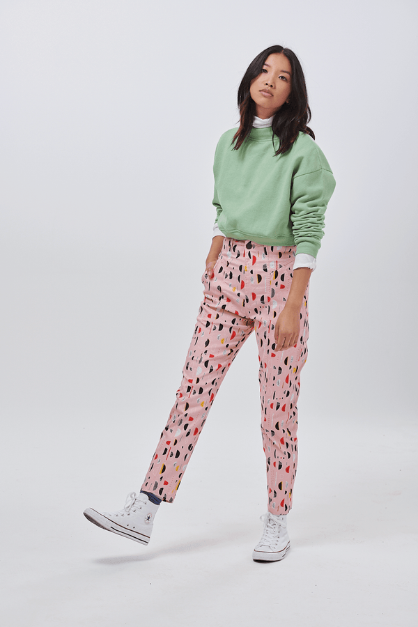 Lucy & Yak trousers 'Evans' Trousers In Half Moon Print