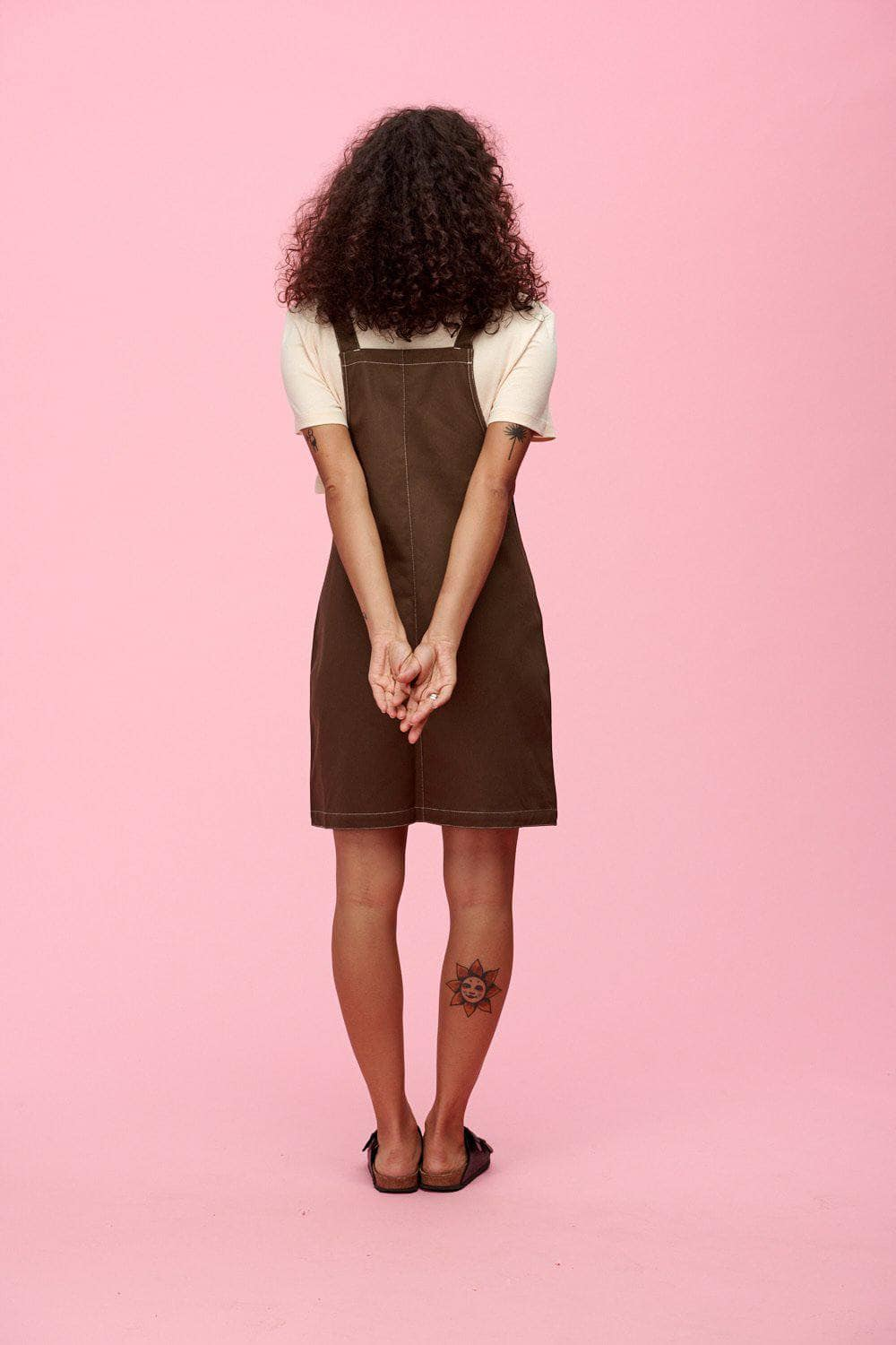 Lucy & Yak Dress Made in Britain - Ripley Pini Dress in Olive