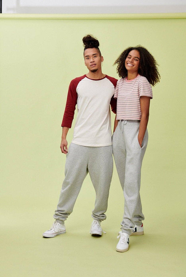 Lucy & Yak trousers 'Ervin' Joggers In Grey Marl