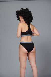Lucy & Yak 'Ivy' Bamboo Women's Brief In Black