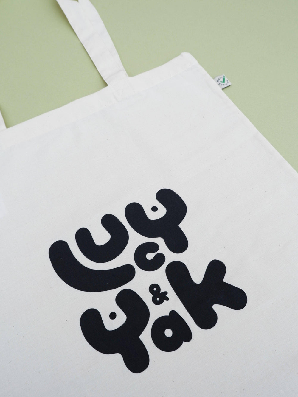Lucy Yak Brighton Screen Printed Lucy & Yak Logo Tote Bag on Organic Cotton