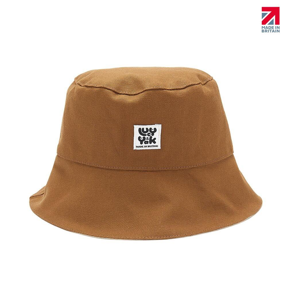 Lucy & Yak Hat 'Travis' Bucket Hat in Brown Made in Britain