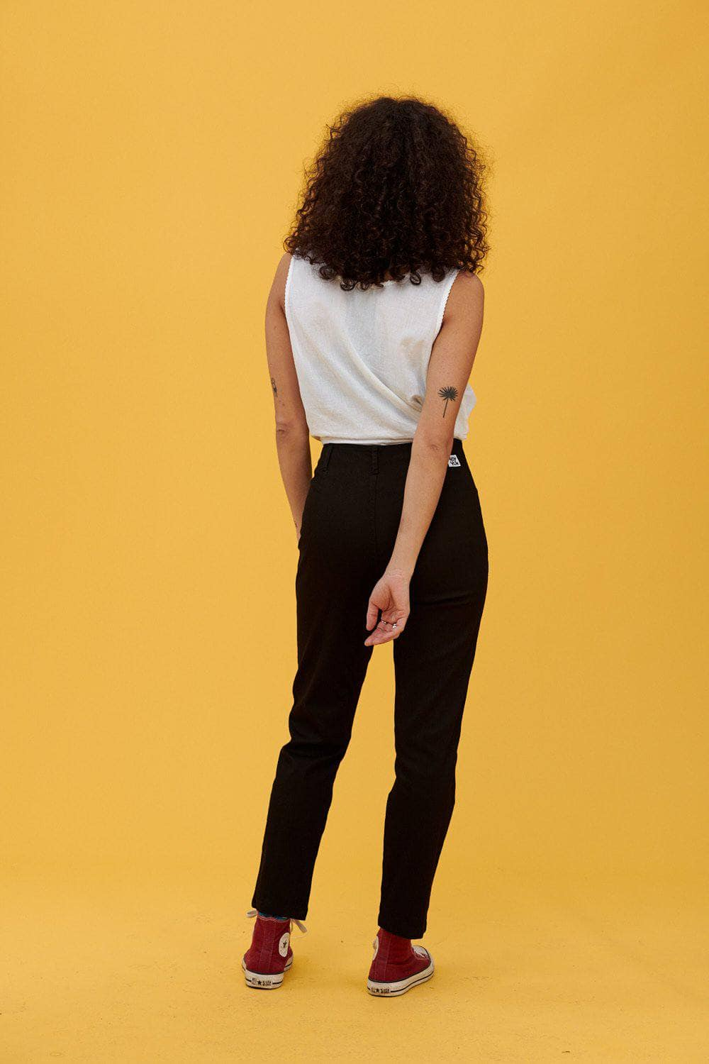 Lucy & Yak trousers 'Camden' High Waisted Trousers in Black