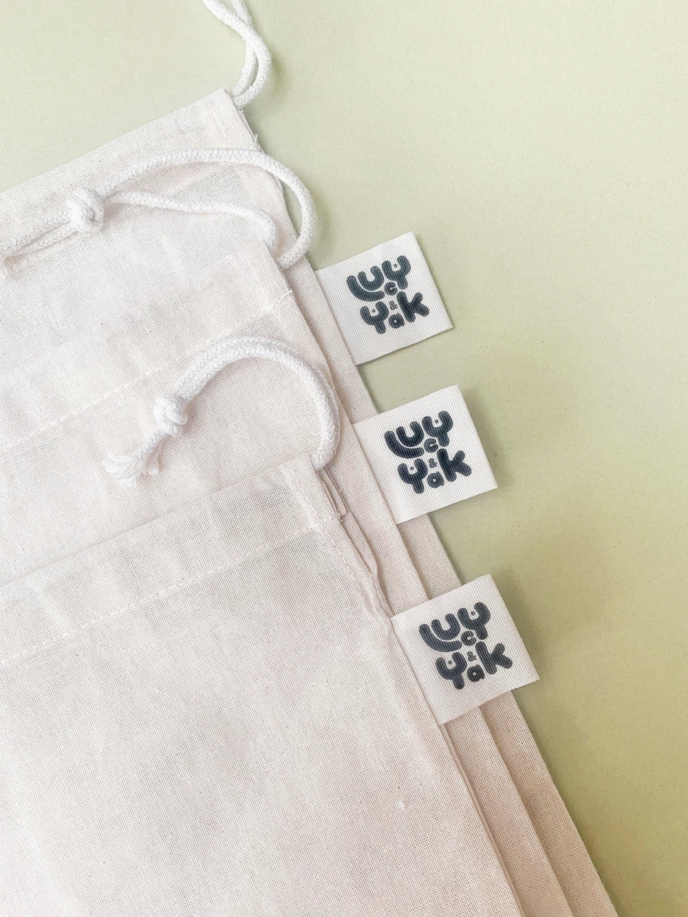 Lucy & Yak Bag Organic Cotton Muslin Produce Bag Pack of 3