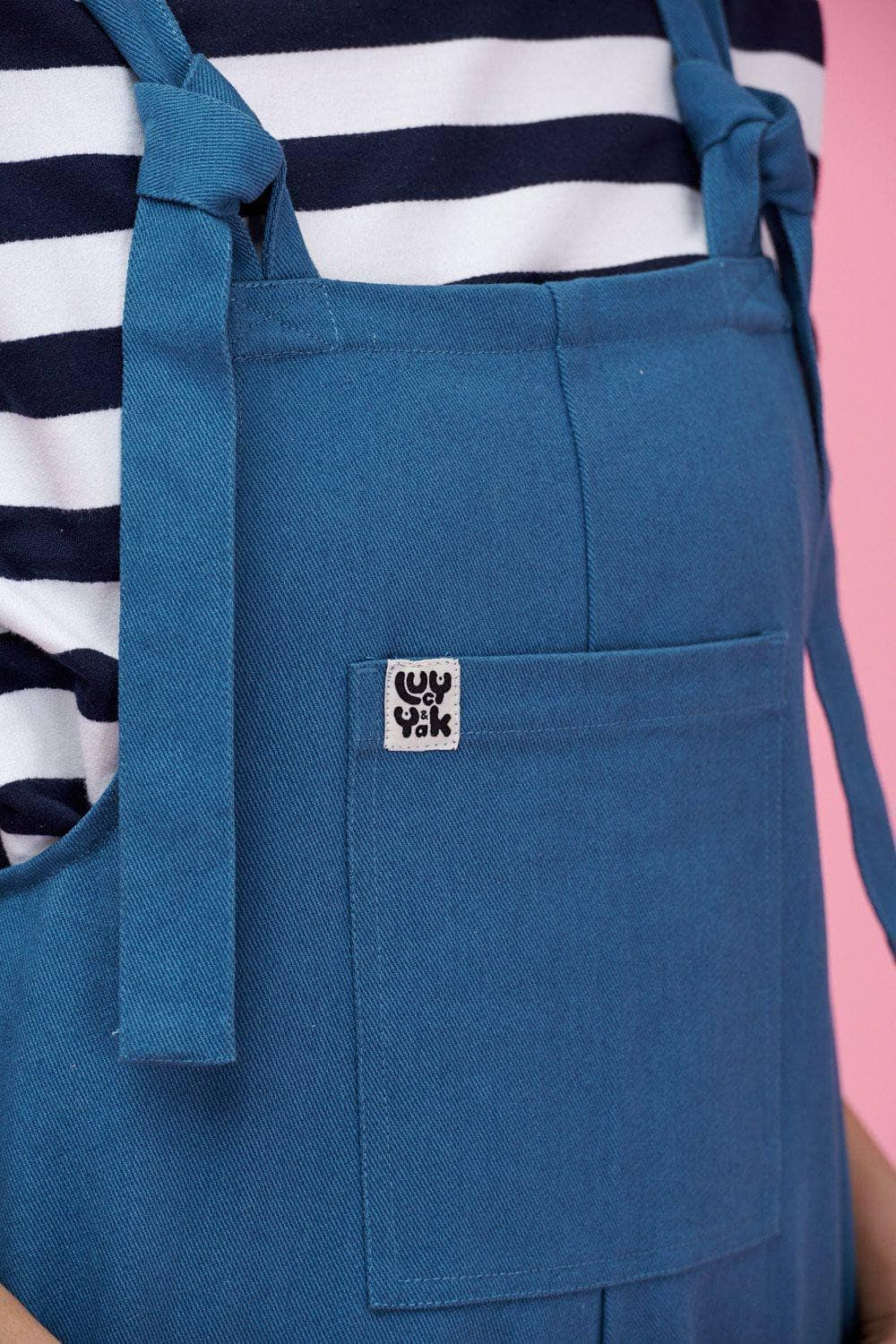 Lucy & Yak Dungarees Atlas Dungarees In Petrol Blue