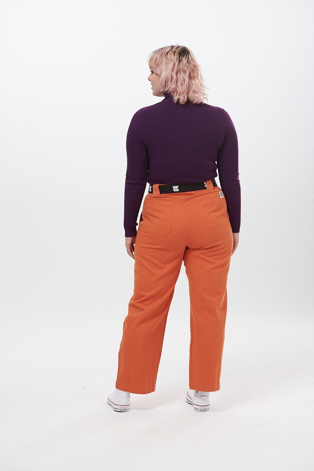Lucy & Yak trousers 'Logan' High Rise Organic Jeans in Rust