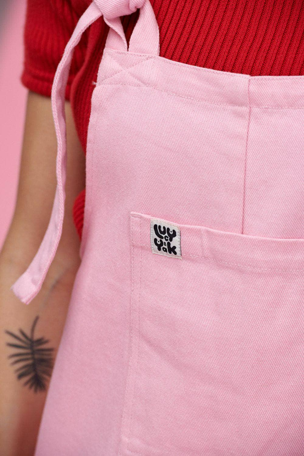 Lucy & Yak Dungarees Atlas Dungarees In Baby Pink