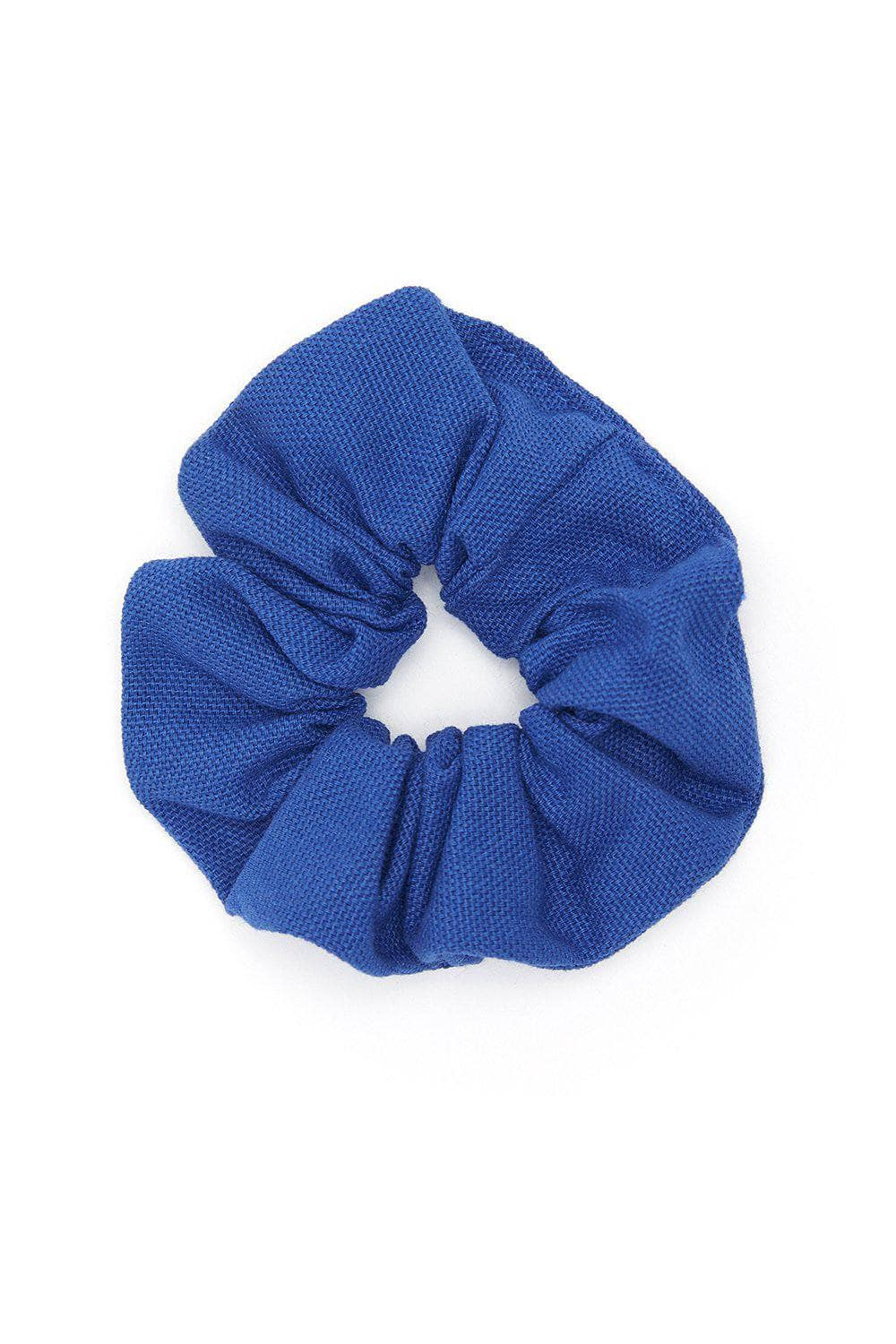 Lucy & Yak accessories 'Carter' Hair Scrunchie in Organic cotton Blue
