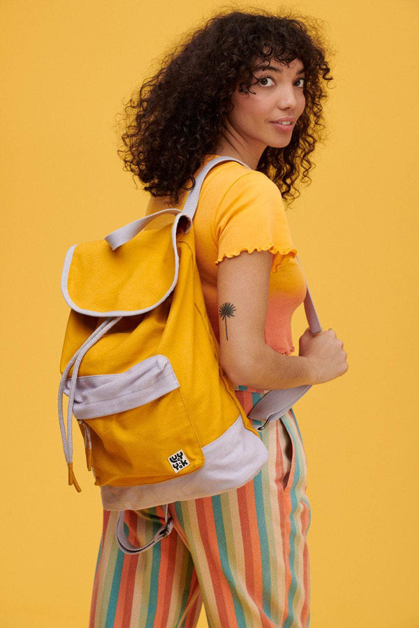Lucy & Yak Bag Finley Backpack in Iris & Artisans Gold
