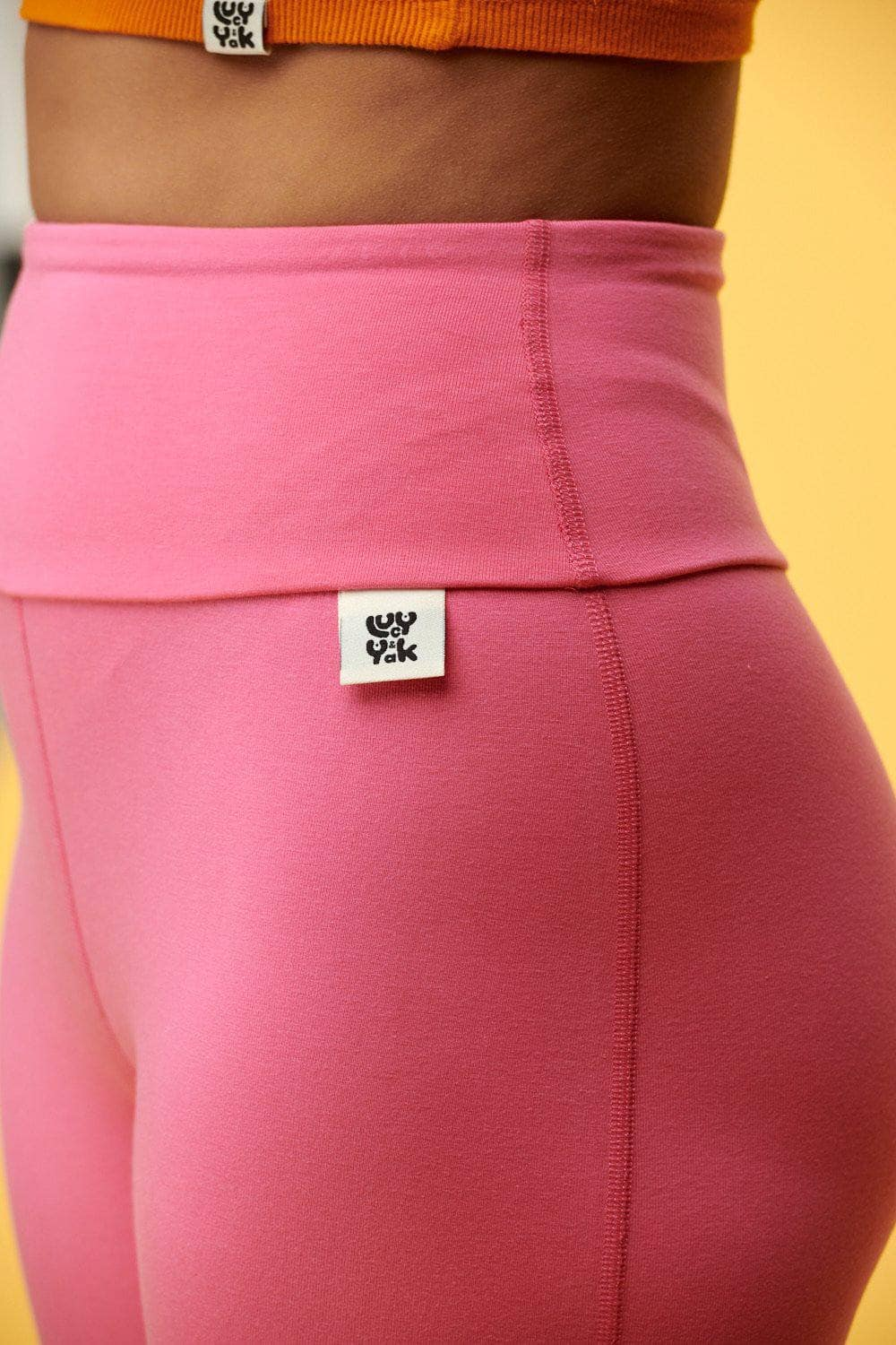 Lucy & Yak Leggings 'Wye' Tencel Leggings in Taffy Pink