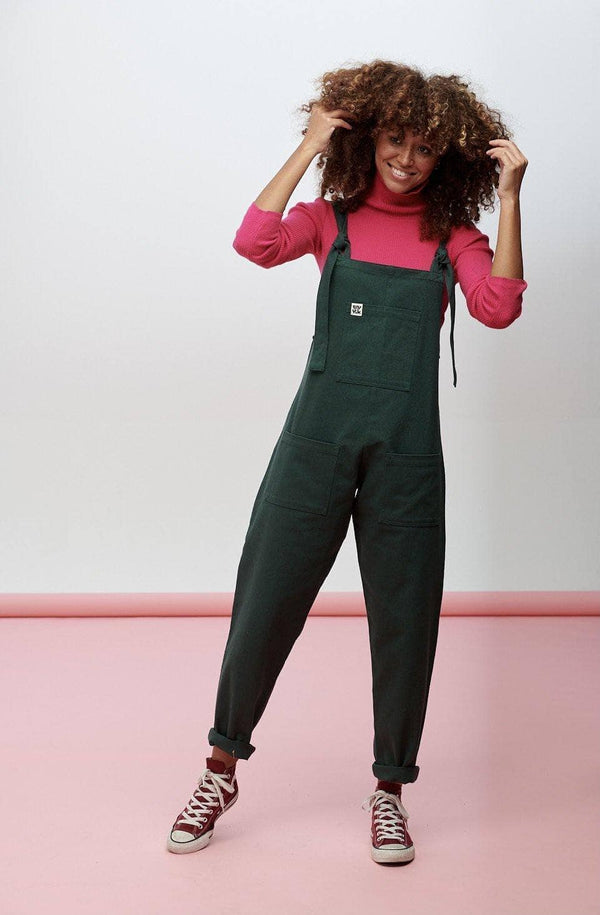 Lucy & Yak Dungarees Atlas Organic Heavy Cotton Twill Dungarees in Posy Green