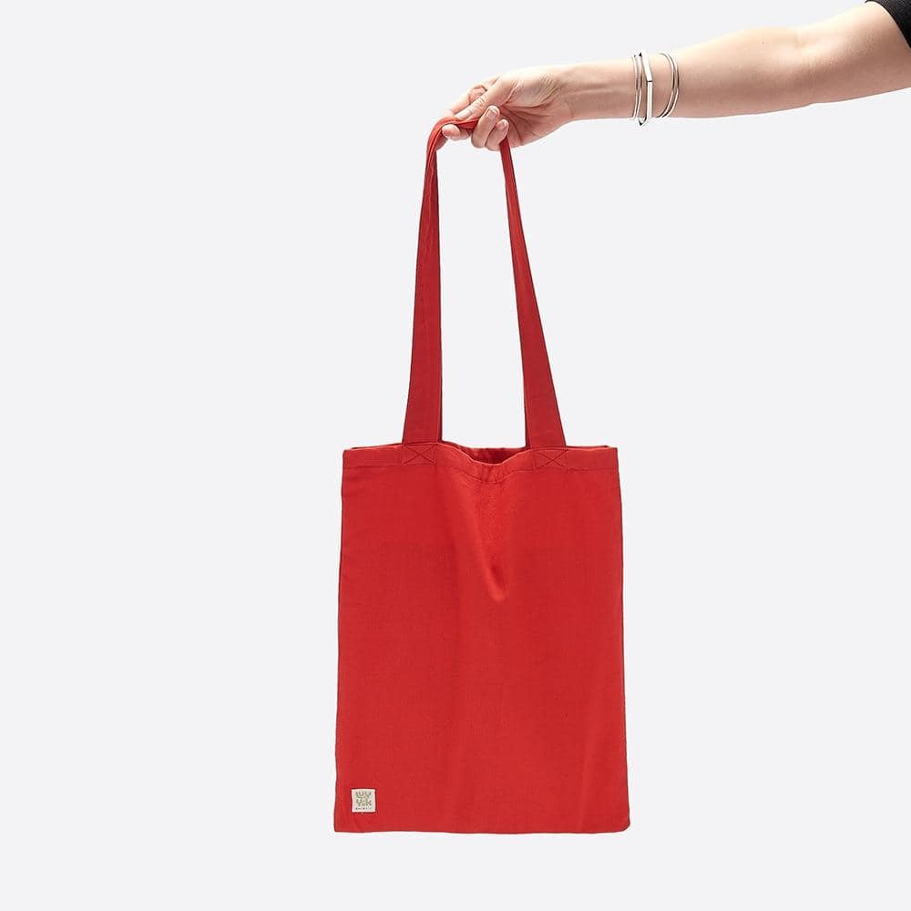 Lucy & Yak Bag ♻️ 'Idly' Recycled Cotton Tote Bag in Red ♻️