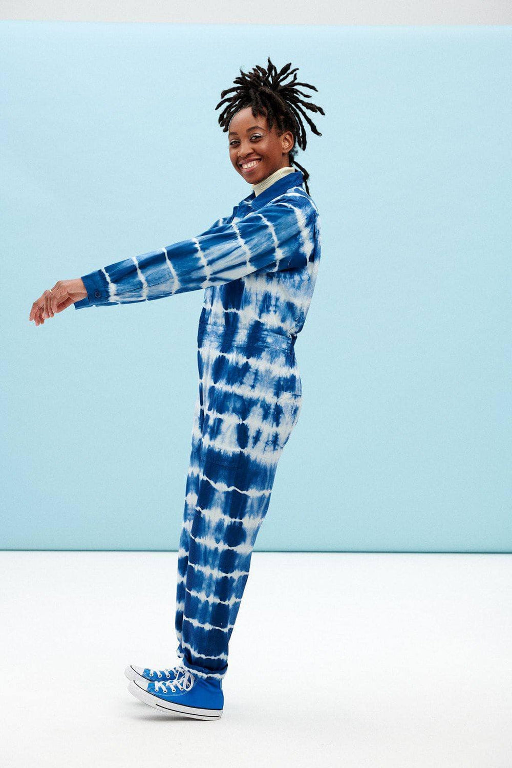 Lucy & Yak Boilersuit Carmen Boilersuit in Midnight Blue Tie Dye