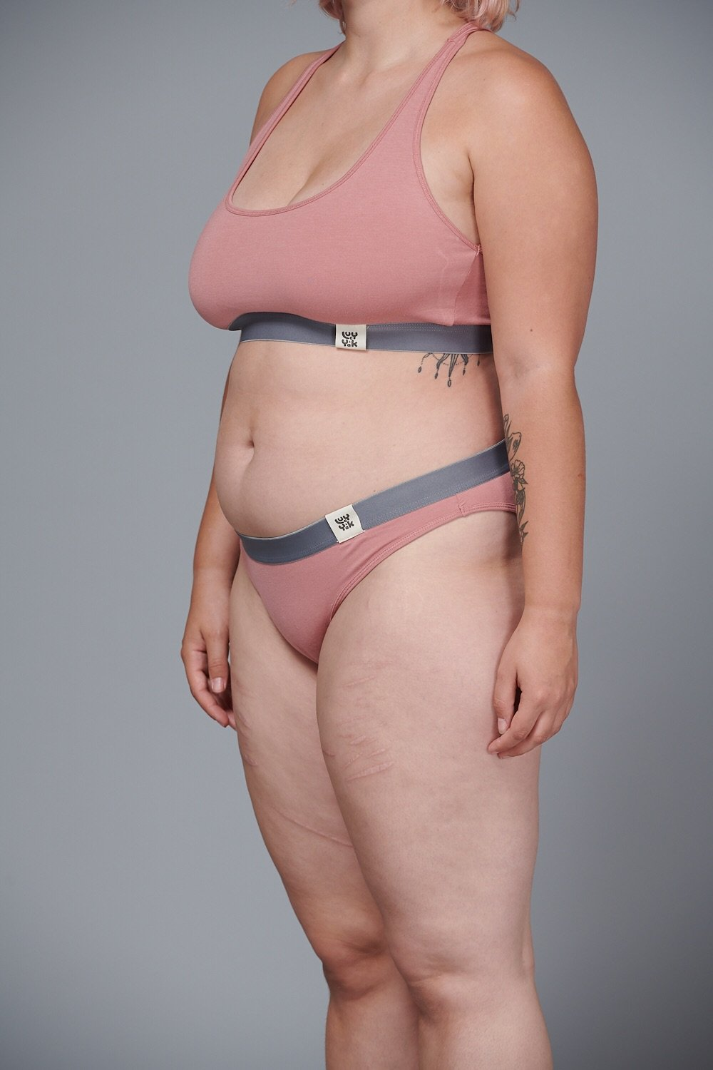 Lucy & Yak 'Ivy' Bamboo Women's Brief In Ash Pink