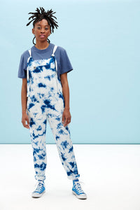 Lucy & Yak Dungarees Original Organic Dungarees In Midnight Tie Dye
