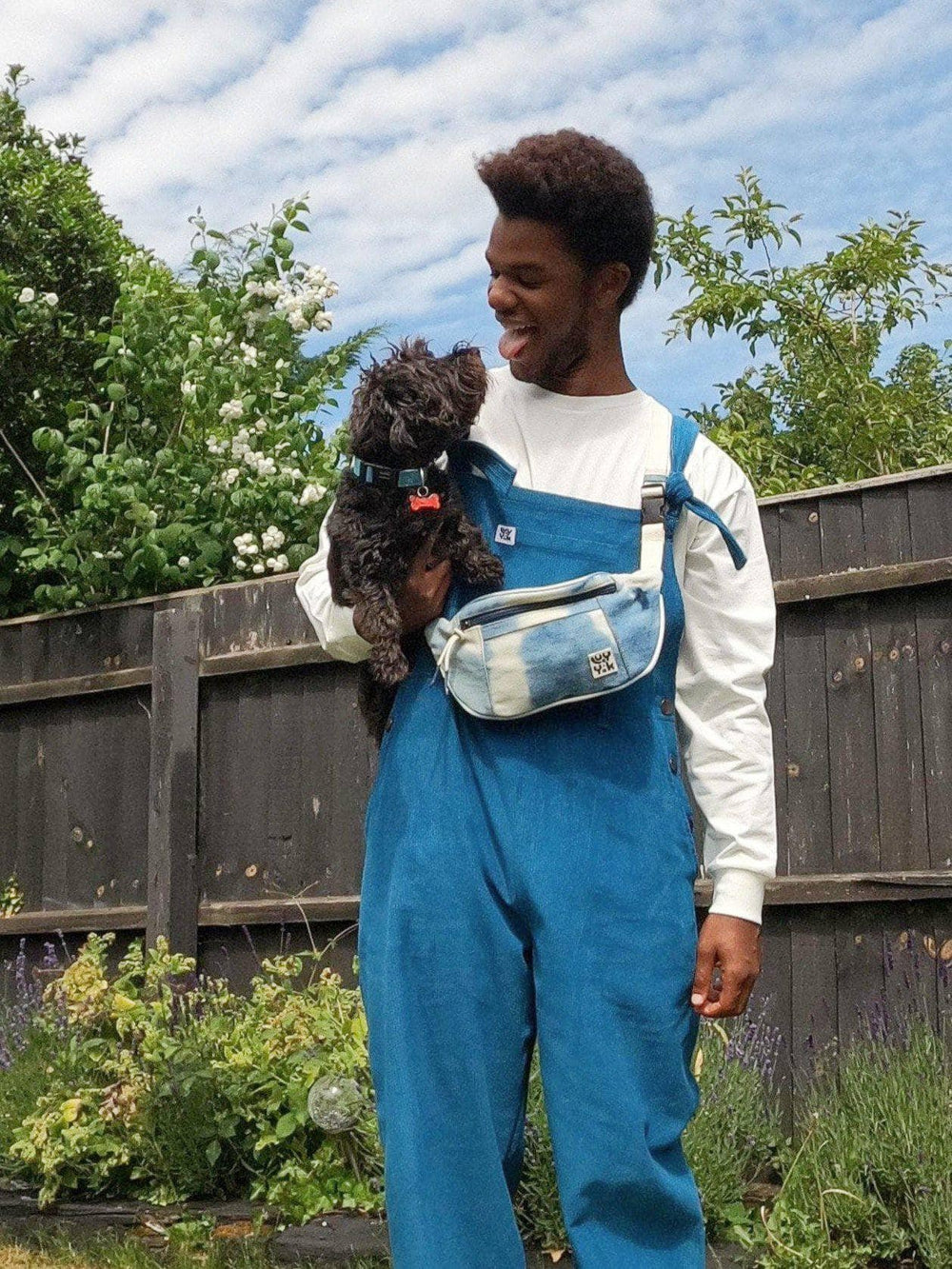 Lucy & Yak Bag Bumbag in Blue Denim Tie Dye