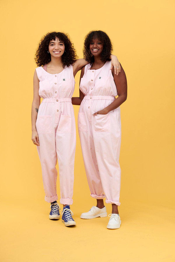 Lucy & Yak Boilersuit 'Juni' Organic Cotton Twill Boilersuit in Pink