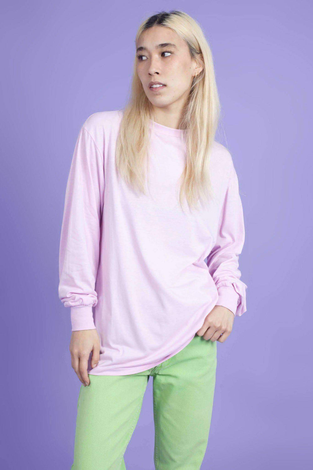Lucy & Yak Tops Kenny SeaCell Skater Tee in Sherbert Pink
