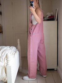 Lucy & Yak Dungarees 'Easton' Organic Cotton Twill  90's Shape Baggy Dungarees in Blush