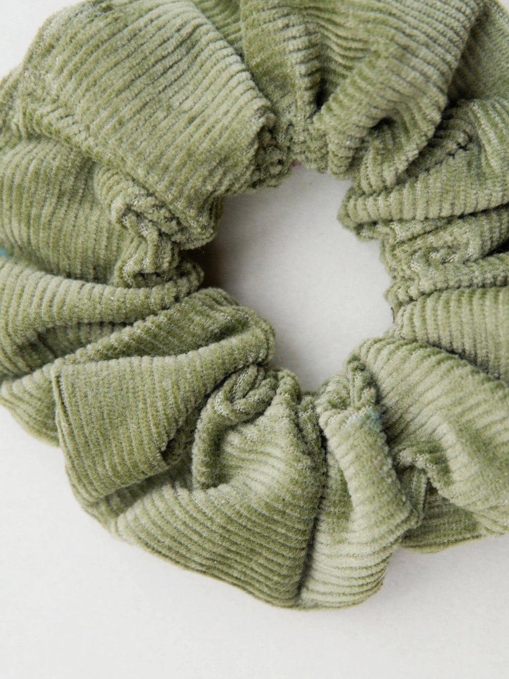 Lucy & Yak accessories Hair Scrunchie in Olive Green Organic Cotton Corduroy