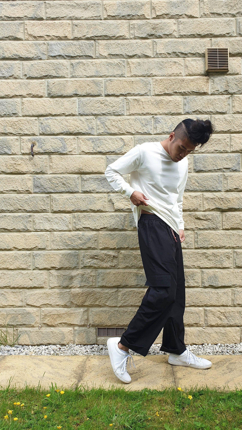 Lucy & Yak trousers Matchu Cargo Pants In Black