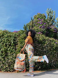 Lucy & Yak trousers Sundaze Collection Matchu Cargo Parts In Print On Alfalfa