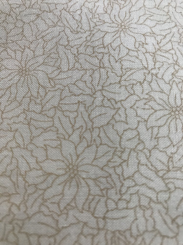 Cream Pointsettias Fabric-Thimbleberries