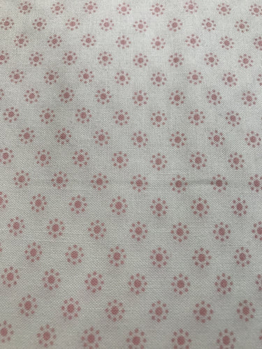 White/Pink Shirting Fabric