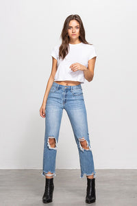 Lane Cropped Straight Jeans