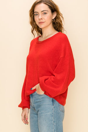 Demi Sweater- Red