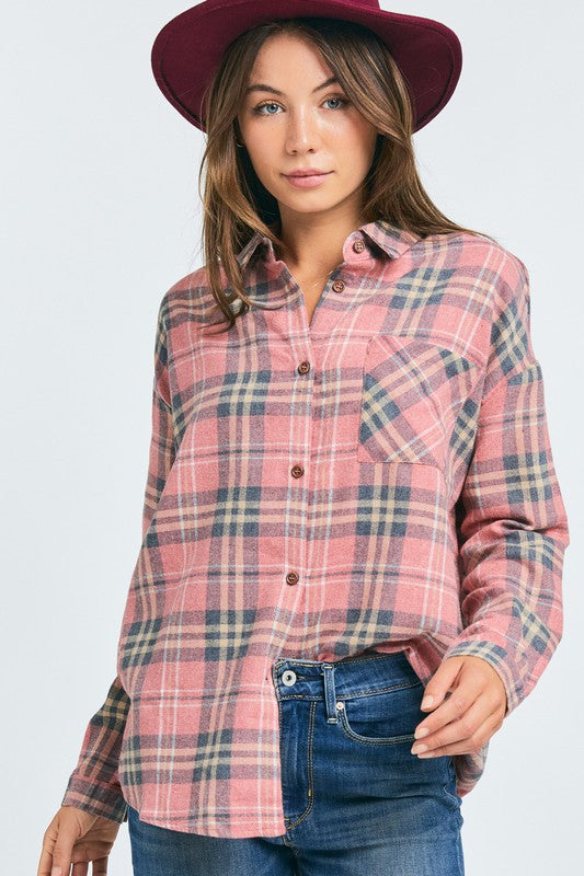 Raina Flannel- Pink