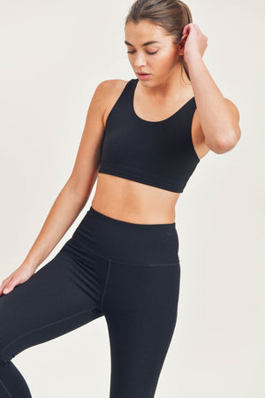 Fast n Fearless Sports Bra- Black
