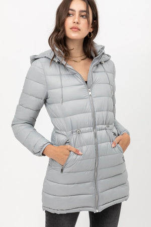 Callie Puffer Coat- Grey
