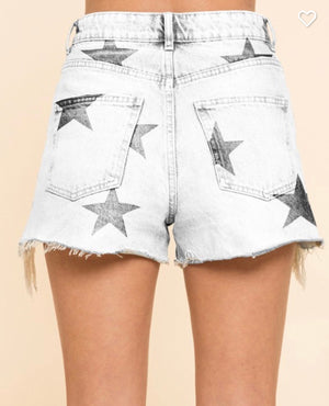 Star Denim Shorts (light wash)