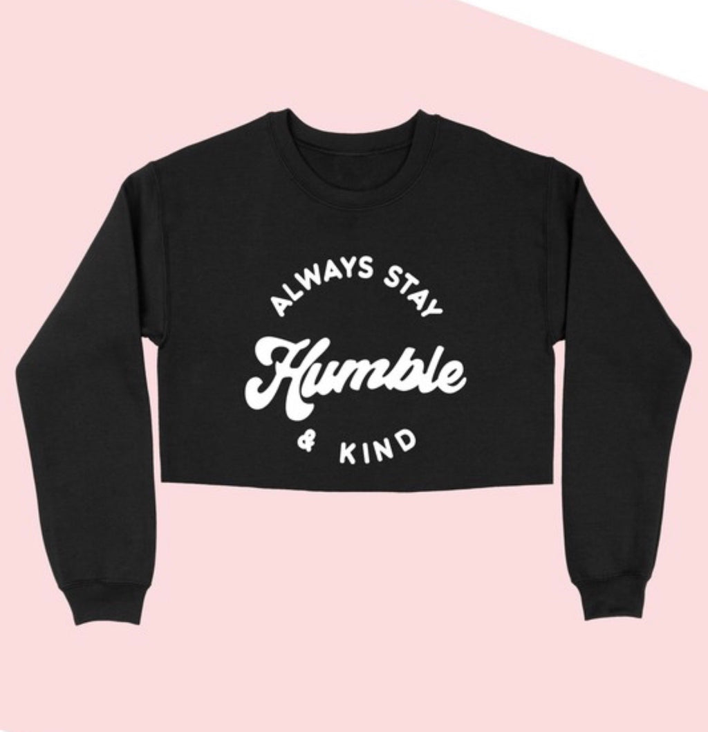 Humble + Kind Crop (black)