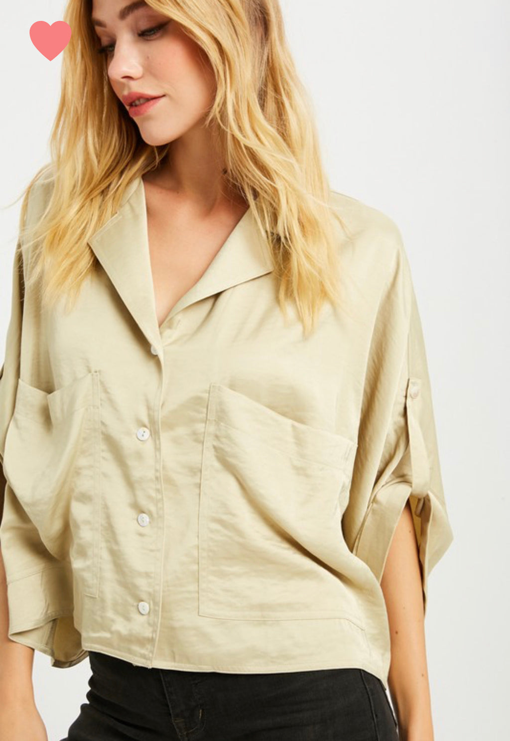 Wishlist Silk Pocket Top
