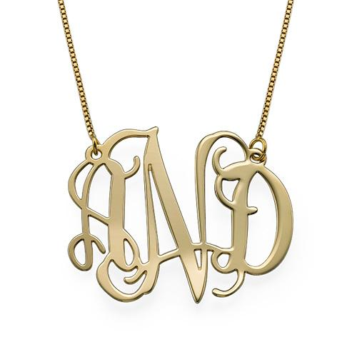 10K Solid Gold Monogram Necklace - My Family Necklace