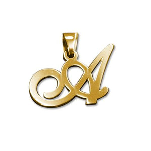 14K Gold Initial Pendant Necklace - My Family Necklace