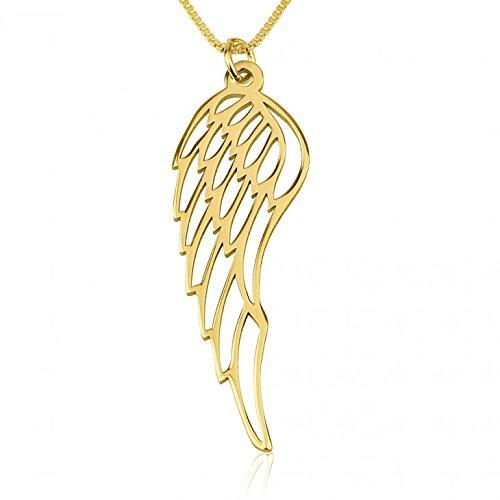 Angel Wing Necklace in 24K Gold Plating over Sterling Silver - My Family Necklace