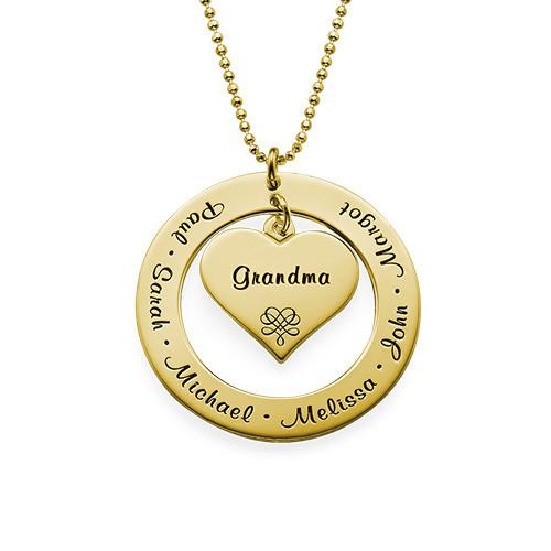 Grandmother Necklace with Names - My Family Necklace