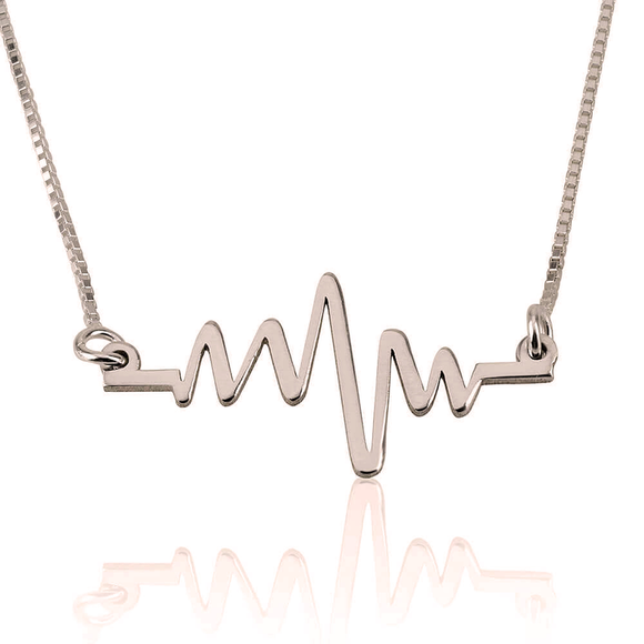 Heartbeat Necklace in 24K Rose Gold Plating