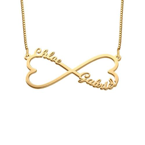 Heart Infinity Name Necklace in 18K Gold Plating - My Family Necklace