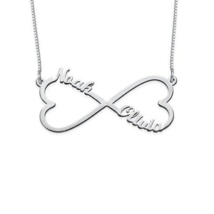 Heart Infinity Name Necklace - My Family Necklace