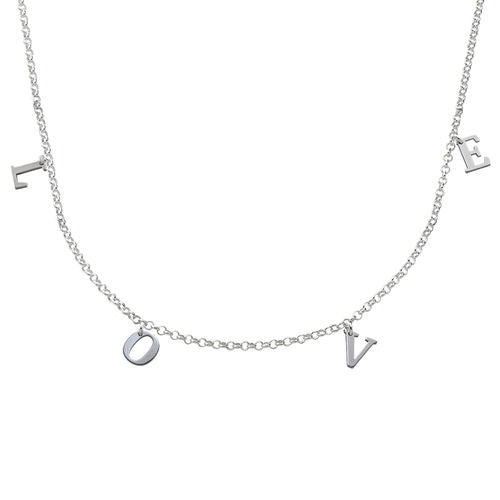 Name Choker in Sterling Silver - My Family Necklace