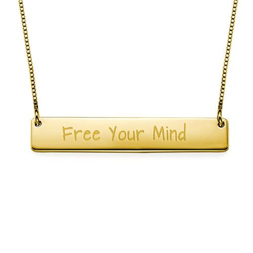 Free Your Mind Inspirational Bar Necklace - My Family Necklace