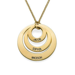 5a140814e0947 Personalized Three Disc Necklace in Gold Plating