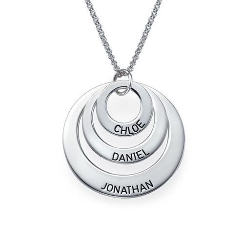 Personalized Three Disc Necklace - My Family Necklace