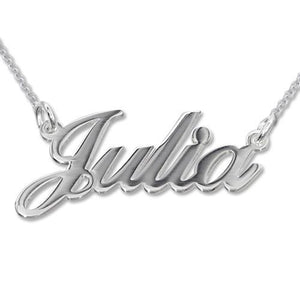 Classic Silver Name Necklace - My Family Necklace